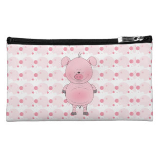 Cute Cartoon Pig Makeup Bag