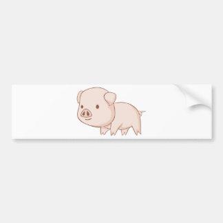 Cute Cartoon Pig Shirts Bumper Sticker