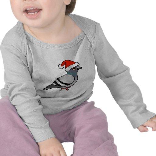 Cute Cartoon Pigeon Santa T Shirt