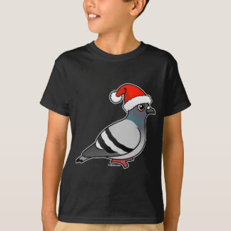 Cute Cartoon Pigeon Santa Tshirts