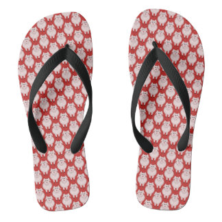 Cute Cartoon Piggy Pattern Flip Flops