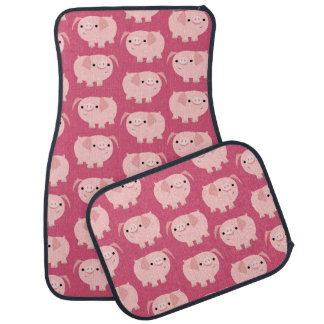 Cute Cartoon Pigs Car Mats