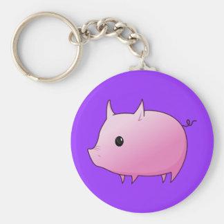 Cute Cartoon Pink Pig Key Chain