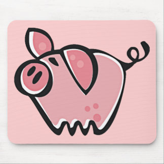 Cute Cartoon Pink Pig Mouse Pad