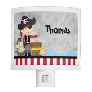 Cute cartoon pirate kids Night Light