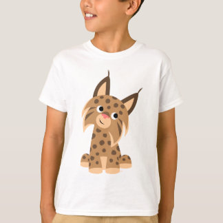 Cute Cartoon Prankish Lynx Children T-Shirt