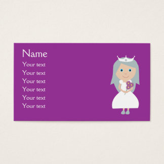 Cute Cartoon Princess Purple Customizable Business Card