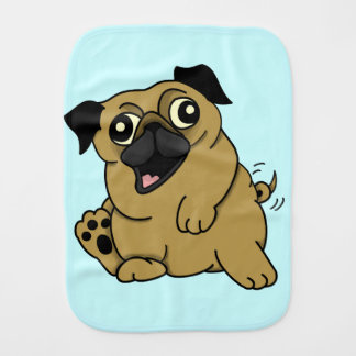 CUTE CARTOON PUG BURP CLOTH