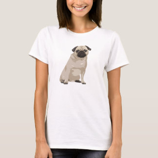 Cute Cartoon Pug T Shirt