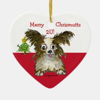 Cute Cartoon Puppy Dog Heart Ornament