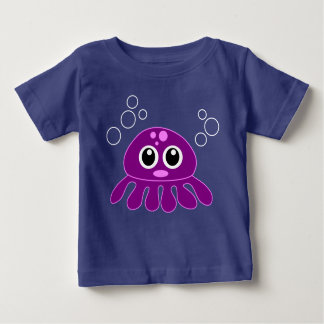 Cute Cartoon Purple Octopus Baby T-Shirt
