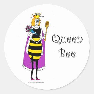 Cute cartoon Queen Bee Round Sticker