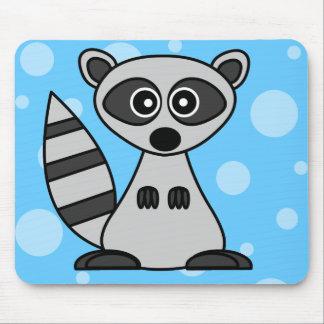 Cute Cartoon Raccoon Mousepads