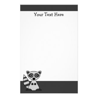 Cute Cartoon Raccoon Stationery