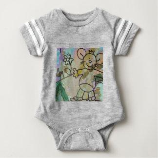 Cute Cartoon Rats Baby Bodysuit