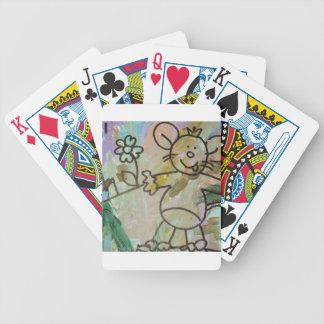Cute Cartoon Rats Bicycle Playing Cards