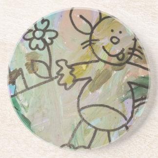 Cute Cartoon Rats Coaster