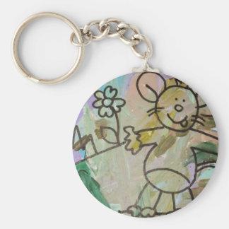 Cute Cartoon Rats Keychain
