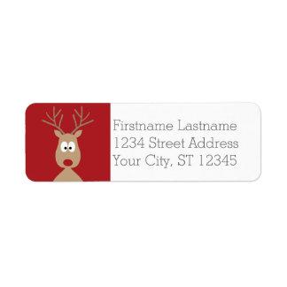 Cute Cartoon Reindeer - Merry Christmas Greeting