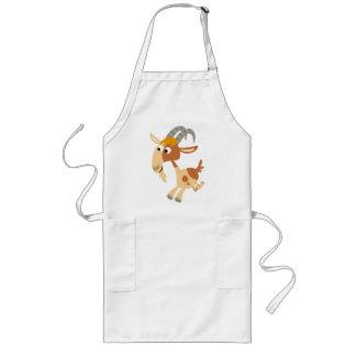 Cute Cartoon Running Goat Cooking Apron