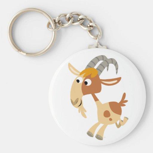 Cute Cartoon Running Goat Keychain