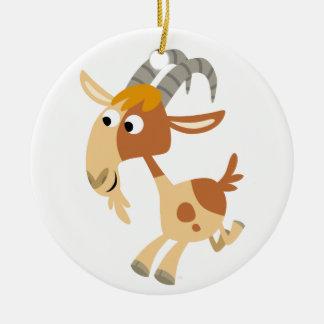 Cute Cartoon Running Goat Ornament