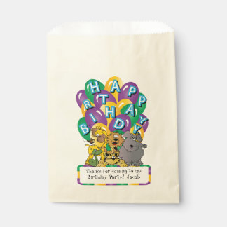 Cute Cartoon Safari Animals Favour Bag