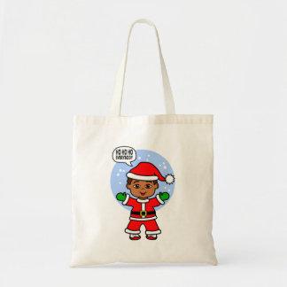 Cute Cartoon Santa Toddler Bringing Holiday Cheers
