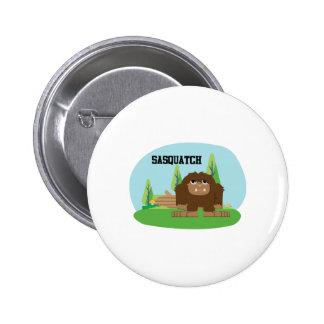 Cute Cartoon Sasquatch 2 Inch Round Button