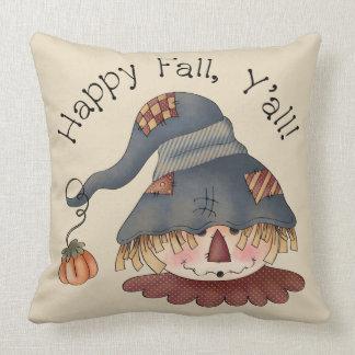 Cute Cartoon Scarecrow Throw Pillow