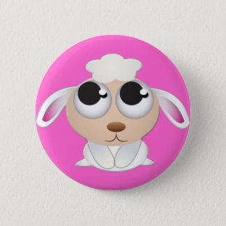 Cute Cartoon Sheep 2 Inch Round Button