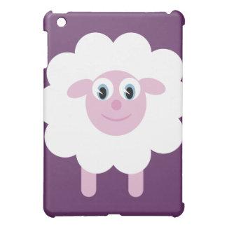 Cute Cartoon Sheep Customizable Purple iPad Mini Case