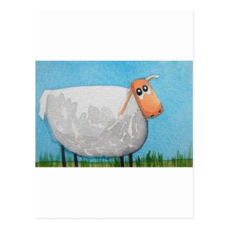 Cute cartoon sheep Gordon Bruce art Postcard