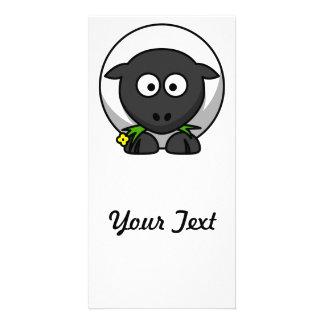 Cute Cartoon Sheep Customized Photo Card