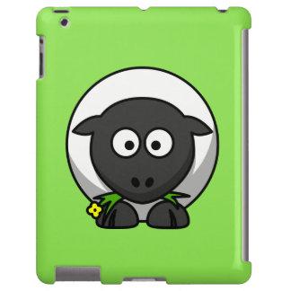 Cute Cartoon Sheep With Green Background