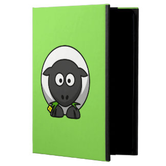 Cute Cartoon Sheep With Green Background iPad Air Case