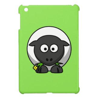 Cute Cartoon Sheep With Green Background iPad Mini Case
