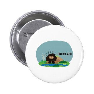 Cute Cartoon Skunk Ape 2 Inch Round Button
