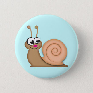 Cute Cartoon Snail 2 Inch Round Button