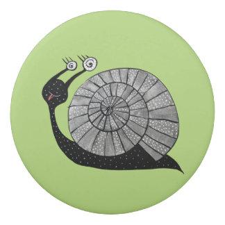 Cute Cartoon Snail Character With Spiral Eyes Eraser