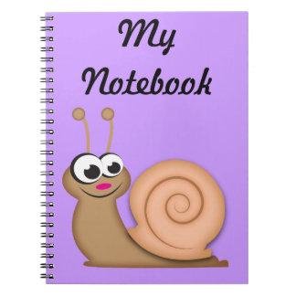Cute Cartoon Snail Note Books
