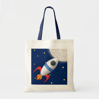 Cute Cartoon Space Rocket Ship