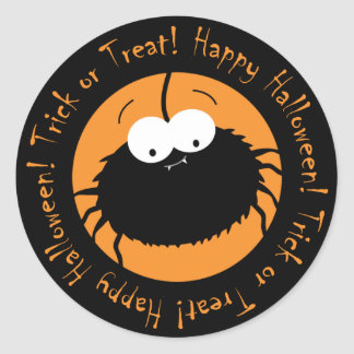 Cute Cartoon Spider Trick or Treat Stickers