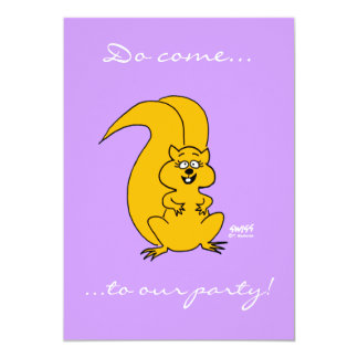 Cute Cartoon Squirrel Funny Invitations Any Party