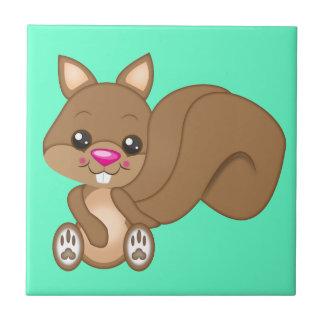 Cute Cartoon Squirrel Tile