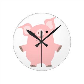Cute Cartoon Standing up Pig Clock