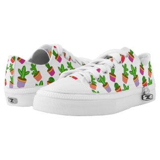 Cute Cartoon Succulent and Cactus Low-Top Sneakers