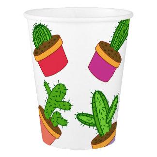 Cute Cartoon Succulent and Cactus Paper Cup