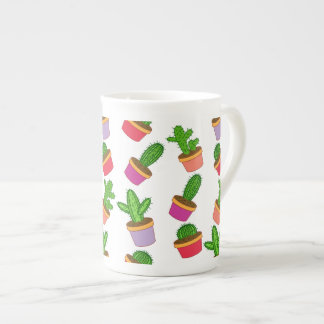 Cute Cartoon Succulent and Cactus Tea Cup
