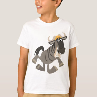 Cute Cartoon Tap Dancing Wildebeest Kids T-Shirt